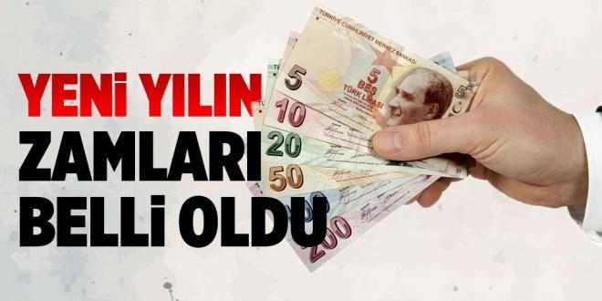 -YENİ YIL VERGİ ZAMLARI BELİRLENDİ