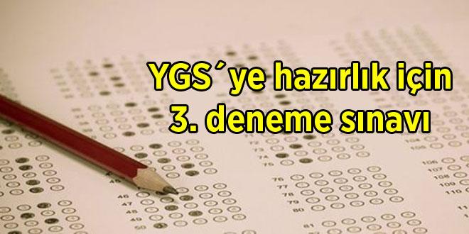 YGS´ye hazırlık için 3. deneme sınavı