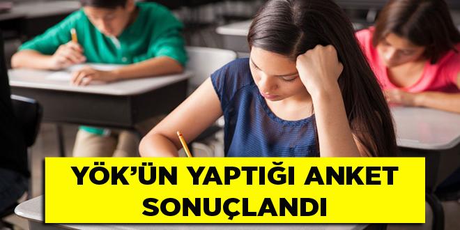 -YÖK'ÜN YAPTIĞI ANKET SONUÇLANDI