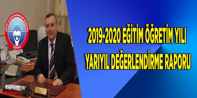 2019-2020 EĞİTİM ÖĞRETİM YILI YARIYIL DEĞERLENDİRME RAPORU