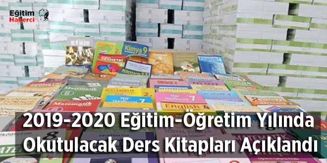 2019-2020 Eğitim-Öğretim Yılında Okutulacak Ders Kitapları Açıklandı