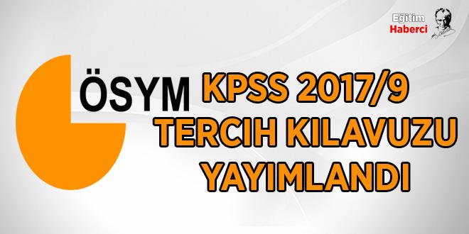 KPSS 2017/9 tercih kılavuzu yayımlandı