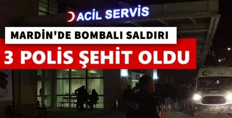 Mardin'de 3 polis şehit oldu
