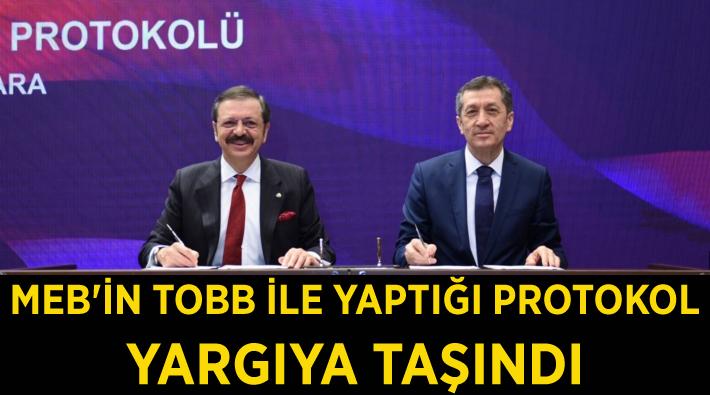 MEB'in TOBB ile yaptığı protokol yargıya taşındı