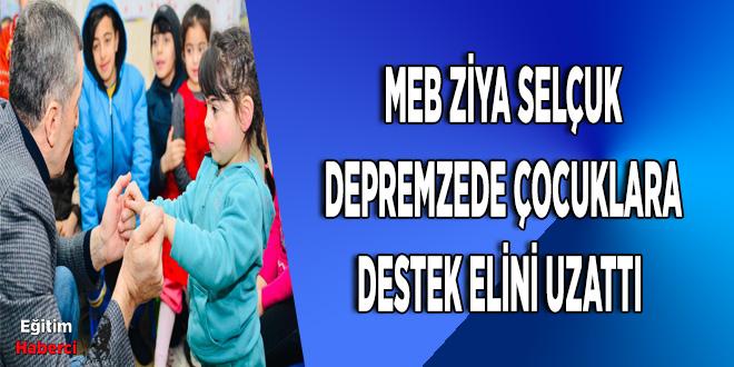 Milli Eğitim Bakanı, 'Psikolojik Danışman' olarak deprem bölgesinde!