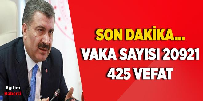 Sağlık Bakanı Fahrettin Koca Türkiye'de günlük Koronavirüs