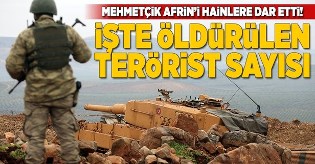 -TSK'DAN AFRİN AÇIKLAMASI: 65 TERÖRİST ETKİSİZ HALE GETİRİLDİ