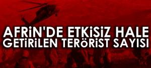 -TSK'DAN AFRİN AÇIKLAMASI: BİN 829 TERÖRİST ETKİSİZ HALE GETİRİLDİ