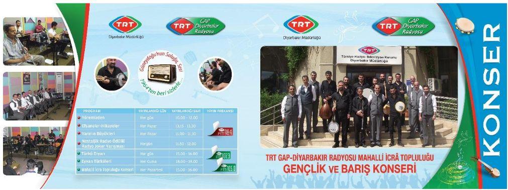 -TRT'DEN ANLAMLI ETKİNLİK: DİYARBAKIR'DA GENÇLİK VE BARIŞ KONSERİ