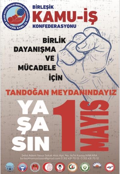1 MAYIS'TA EMEĞİMİZ VE EKMEĞİMİZ İÇİN MEYDANLARDA OLACAĞIZ!