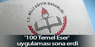 100 Temel Eser' uygulaması sona erdi