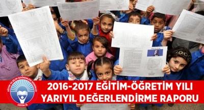 2016-2017 EĞİTİM-ÖĞRETİM YILI YARIYIL DEĞERLENDİRME RAPORU