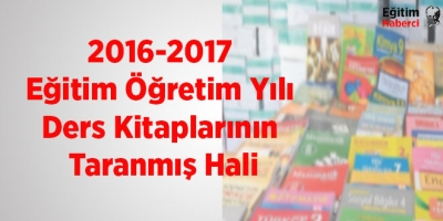 2016-2017 Eğitim Öğretim Yılı Okutulacak Ders Kitapları Pdf Hali