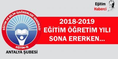 2018-2019 EĞİTİM ÖĞRETİM YILI SONA ERERKEN…