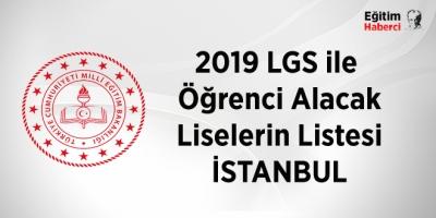 2019 Merkezi sınavla öğrenci alan liseler-İstanbul