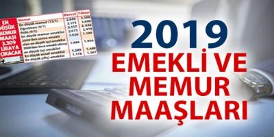 2019 MEMUR VE EMEKLİ  MAAŞLARI