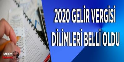 2020 Gelir Vergisi  Dilimleri Belli Oldu