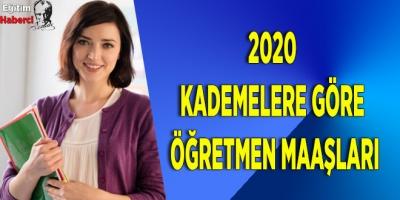 2020 Kademelere Göre Öğretmen Maaşları