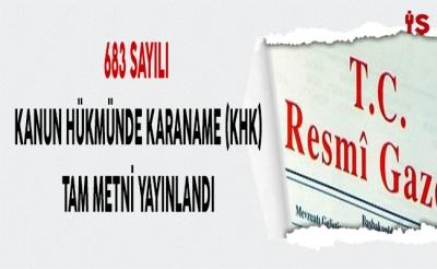 -367 KİŞİ İHRAÇ EDİLDİ 124 KİŞİ GÖREVE İADE EDİLDİ