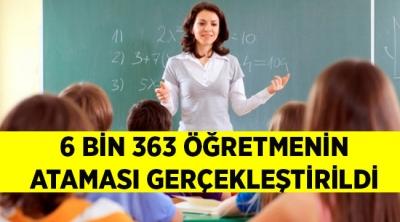 6 bin 363 Öğretmenin Ataması Gerçekleştirildi