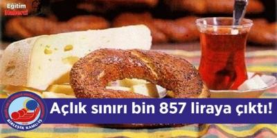 Açlık sınırı bin 857 liraya çıktı!
