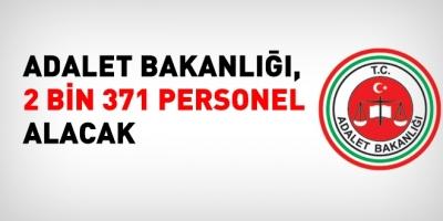Adalet Bakanlığının 2371 kişilik personel alım ilanı yayımlandı
