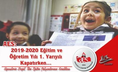 AES: 2019-2020 Eğitim ve Öğretim Yılı 1. Yarıyılı Kapatırken…