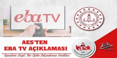 AES'TEN EBA TV AÇIKLAMASI