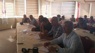 Alanya İlçe Temsilciliği Alanya Öğretmenevinde İş Yeri Temsilcilerinin Eğitimi Toplantısı gerçekleştirdi