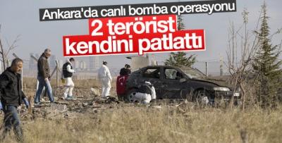 -ANKARA'DA İKİ CANLI BOMBA KENDİNİ PATLATTI