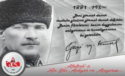 Atatürk'ü Her Gün Anlıyor ve Anıyoruz