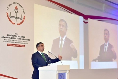 Bakan Yılmaz, yurt dışındaki Türk eğitimcilerle buluştu