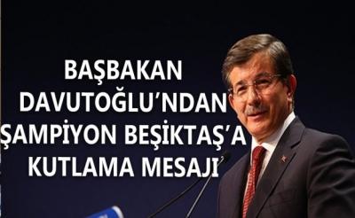 Başbakan Davutoğlu Şampiyon Beşiktaş'ı Kutladı