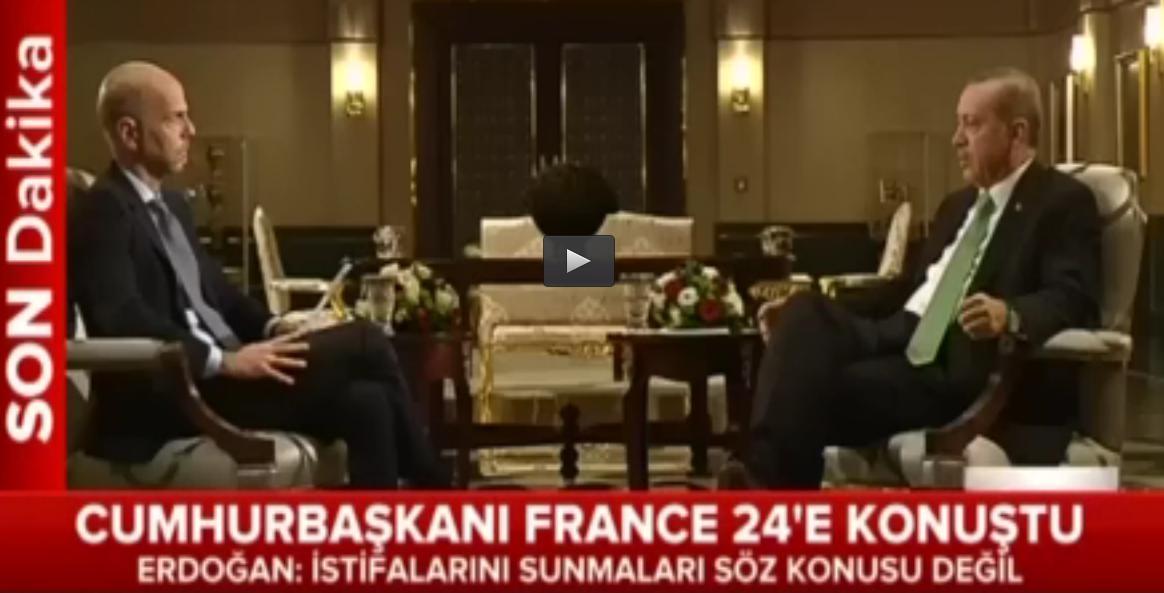 -EN ÖNEMLİ AÇIKLAMALARI FRANCE 24'E YAPTI: DARBECİLER AKAR'I GÜLEN'LE GÖRÜŞTÜRMEK İSTEDİLER