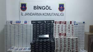 -BİNGÖL'DE 7 BİN 136 PAKET KAÇAK SİGARA YAKALANDI