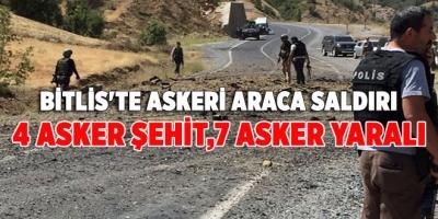 Bitlis'te Askeri Araca Saldırı