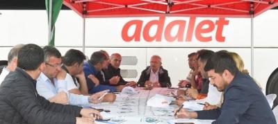 -CHP'NİN ADALET YÜRÜYÜŞÜ 7. GÜNÜNDE, MYK YOLDA TOPLANDI