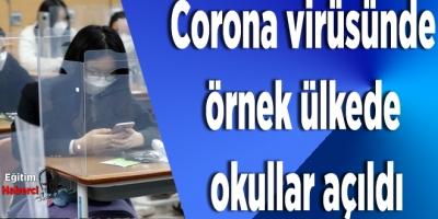 Corona virüsünde örnek ülkede okullar açıldı