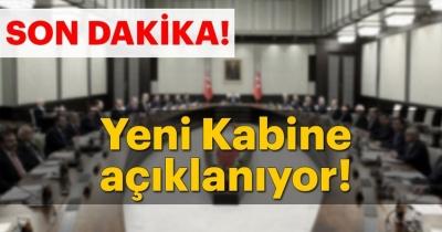 Cumhurbaşkanı Erdoğan yeni kabineyi açıklıyor