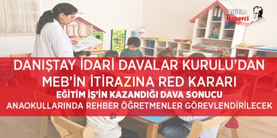 DANIŞTAY'DAN MEB'İN İTİRAZINA RED