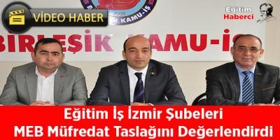 Eğitim İş İzmir Şubeleri MEB Müfredat Taslağını Değerlendirdi