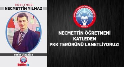 EĞİTİM İŞ:NECMETTİN ÖĞRETMENİ KATLEDEN PKK TERÖRÜNÜ LANETLİYORUZ!