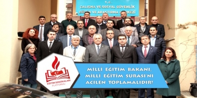 """EĞİTİM SENDİKALARI PLATFORMU:   """"MİLLİ EĞİTİM ŞURASI ACİLEN TOPLANMALIDIR!"""""""
