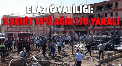 Elazığ Valiliği: 3 Şehit 14'ü Ağır 170 Yaralı