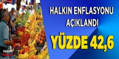 HALKIN ENFLASYONU ARALIK AYINDA YÜZDE 42,6'YA ÇIKTI