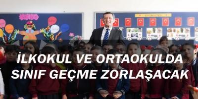 İlkokul ve OrtaOkulda Sınıf Geçme zorlaşacak