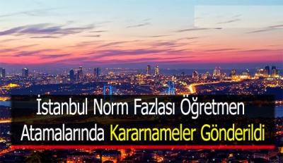 İstanbul Norm Fazlası Öğretmen Atamalarında Kararnameler Gönderildi