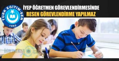 İYEP kurslarında öğretmenler resen zorunlu olarak görevlendirilemezler