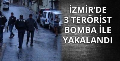 İzmir'de 3 Terörist Yüksek Miktarda Patlayıcı İle Yakalandı