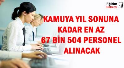 Kamuya yıl sonuna kadar en az 67 bin 504 personel alınacak